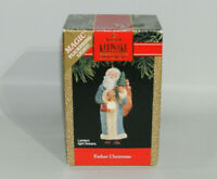 1991 Hallmark Keepsake Father Christmas Ornament Magic Flickering Light