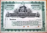 1920 Stock Certificate: 'American Bank & Trust Company - Philadelphia, PA'