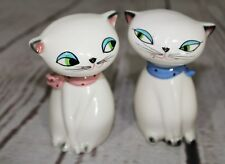Vtg HOLT HOWARD Japan Boy/Girl Cozy Cat Salt Pepper Shakers Noisemaker
