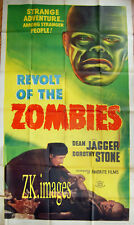 REVOLT OF THE ZOMBIES Horreur Film Horror US 3 Sheet Affiche 1936/R47