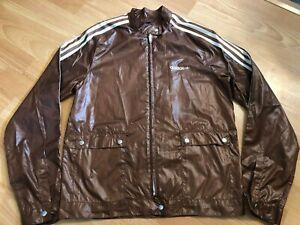 Adidas Vintage Women's Brown Thin Lightweight Jacket, Size UK 12!
