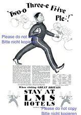 LMS Hotel Great Britain XL ad 1929 bellhop bellboy waiter page boy England xc +