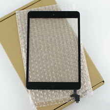 Black Touch Glass Digitizer Screen IC Connector Chip + Home Button For Ipad Mini
