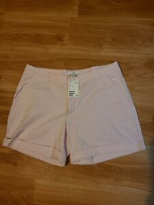 NWT H&M Pink Cuffed Shorts With Pockets Size 12