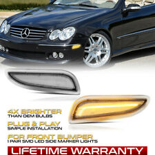 Front Clear Led Side Marker Lamps Set For W209 Benz 2003 2009 Clk320 Clk500