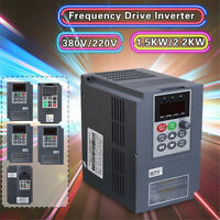 Variable Frequency Drive Inverter 1.5KW/2.2KW 380V/220V Single/Three Phase 2/3HP