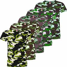 e885f9343c80 Kids T-Shirt Girls Camo Print Short Sleeve Boys Cotton Blend Military Top 3-