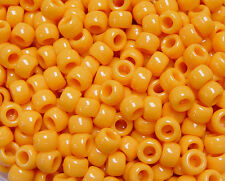 Mustard 9x6mm Pony Beads made in USA 500pc for kandi crafts kids jewelry hair