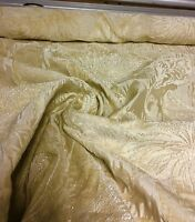SUPER LUXURIOUS CREAM JACQUARD CURTAIN UPHOLSTERY FABRIC 1.5 METRES