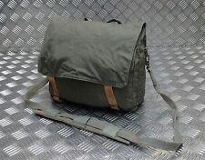 Genuine Vintage Military Issued Canvas Shoulder Bag / Mini Backpack Grey / Green
