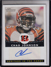 "2006 TOPPS HERITAGE IN THE CARDS CHAD JOHNSON ""OCHO-CINCO"" AUTOGRAPH AUTO"