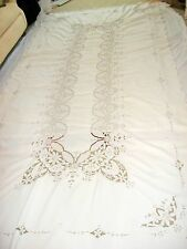 Vintage Madeira Embroid/Cutwork Tablecloth(123x62)12 napkins Last Chance!
