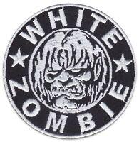 WHITE ZOMBIE Heavy Metal Band Aufnäher Punk-Rock Kutte Patch Aufbügler Sticker