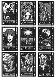 Deadly Tarot Gothic A5 Hard Cover Notebook ~ 21 x 14cm