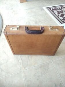 Renwick Belting leather hard sided Canadian briefcase