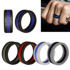 ROYSC Silicone Wedding Ring for Men Available in 6 Colours and 8 Sizes Stylish Rubber Wedding Bands