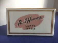 Vintage Paul Hanson Co. Inc. Ceramic Desk Plaque