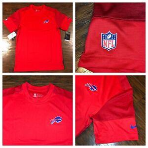 NWT- Nike On-Field Dri-Fit Buffalo Bills NFL Player Sideline Shirt Men's SZ M