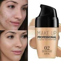 Waterproof Liquid Foundation Face Cream Concealer Full Cover Matte Base Makeup