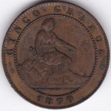 More details for 1870 spain 5 centimos | pennies2pounds