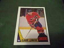 1987-88 OPC O-Pee-Chee #227 Claude Lemieux Rookie Canadiens - nrmtmt/mint