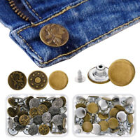 Jeans Button Craft Replacement Buttons Tack  Kit Working Snap Metal DIY Button