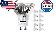 10 DiCUNO GU10 LED Bulbs 5W Warm White, 3000K, 500lm, 120 Degree Beam Angle