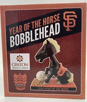 2014 CHINESE HERITAGE YEAR OF THE HORSE BOBBLEHEAD NIB SAN FRANCISCO GIANTS SGA