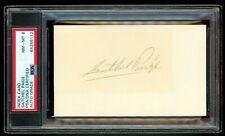 LEGENDARY Baseball HOFer Satchel Paige Autograph 3x5 Card - PSA 8 - NRMT to MT