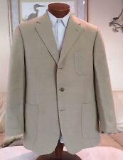 Brooks Brothers Mens 3 Btn Beige 100% Linen Blazer Sz 40 41 42 R Italy MINT!