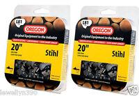 "2 Oregon 20""  Premium Chain 81 Drive Link  (L81) Total of 2 chains"