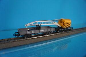 Marklin 4671 + 4433 NS Set Crane car Yellow + Flat car GREY NS