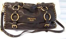 Georgeous PRADA Black-Brown Handbag Purse Italy Genuine Many Pictures!       jlb