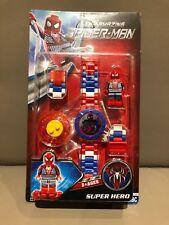 LEGO compatible - The Amazing Spiderman Horloge inclusief Spiderman Mini Figuur
