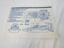 Vintage GI Joe Arah Cobra Water Moccasin Instructions Blueprints