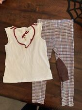 Janie And jack Girls Size 5 Leggings And Size 6 Top Euc