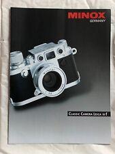 Minox Classic Camera Leica IIIf 2 Page Product Brochure