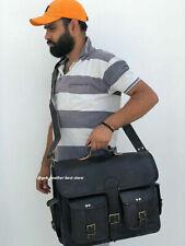 Men Mens Laptop Satchel Handbag  Black New Bag Real Leather Messenger Shoulder