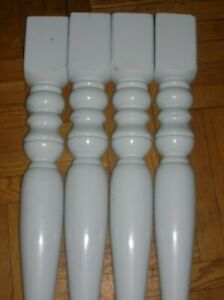 "31"" tall by 4.5""x 4,5"" Top 5""-width. TABLE LEGS Set of 4"