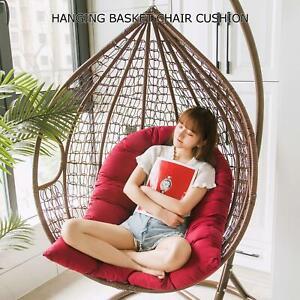 "47x32"" Hanging Basket Chair Lounge Cushions Egg Hammock Swing Chair Seat Pads US"