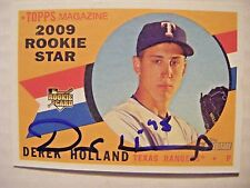 DEREK HOLLAND signed RANGERS 2009 Topps Heritage baseball card AUTO Autographed