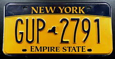 "Nummerschild USA New York ""EMPIRE STATE"" mit kleiner Map ""GUP"". 13505."