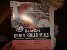 Bearcat Grain Roller Mills 1966 brochure farm vintage