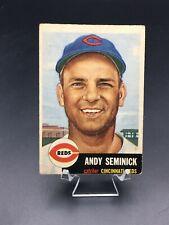 1953 TOPPS BASEBALL ANDY SEMINICK VG #153 CINCINNATI REDS