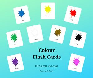Educational Flash Cards - Explosion Colours - EYFS/ Preschool/ Toddler/ SEN