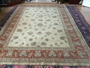 ZEIGLER, EX-LARGE, 9' x 6' , BRAND NEW,  HAND-KNOTTED, HAND-SPUN WOOL..FREE DEL.