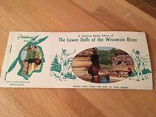 Vintage 1950's Wisconsin Dells Souvenir Post Card Album Booklet - Unused