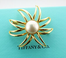 Tiffany & Co. 18k Gold Mabe Pearl Fireworks Brooch pin