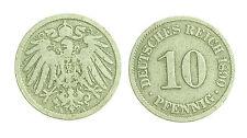 pcc1224_9) Germany, Empire 10 Pfennig, 1890-A