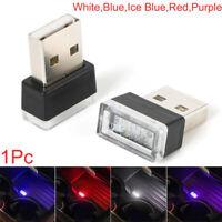 1x Flexible Mini USB LED Light Colorful Light Lamp For Car Atmosphere Lamp New